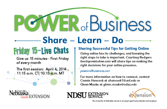 Power of Business - First Friday Live Chat